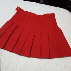 American Apparel Red Pleated Tennis Skirt NWT